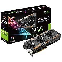 ASUS STRIX-GTX1060-O6G-GAMING - Tarjeta gráfica (Strix, NVIDIA GeForce GTX 1060, 6 GB, GDDR5, DVI, HDMI, DP) color negro