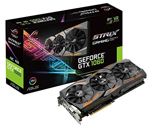 Asus ROG STRIX-GTX1060-O6G-GAMING Carte graphique Nvidia GeForce GTX 1060, 1873 MHz OC, 6GB GDDR5 192 bit