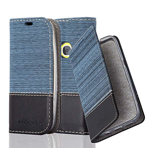 Cadorabo Custodia Libro per Nokia 3310 in Azzurro Scuro Nero - con Vani di Carte, Funzione Stand e Chiusura Magnetica - Portafoglio Cover Case Wallet Book Etui Protezione