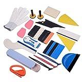 Winjun Autofolie Werkzeug Set Vinyl Wraps Tool mit Folienrakel Micro Rakel Wildlederkante Filzrakel Folienschneider Magnethalter Wasserabzieher Kunststoffschaber Glasschaber