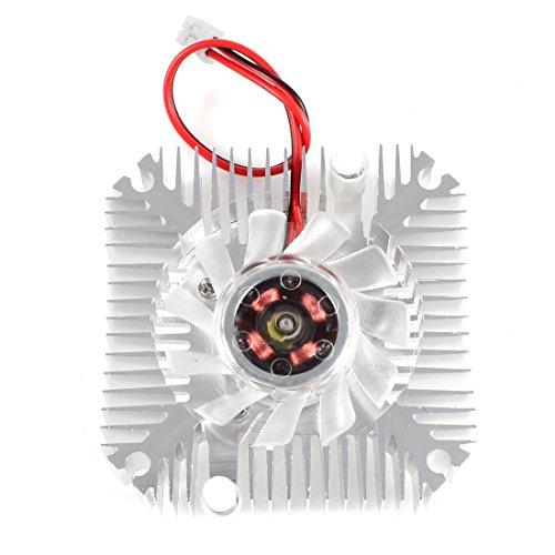 PC Computer Aluminium VGA-Grafikkarte Lüfter-Kühlkörper 55mm