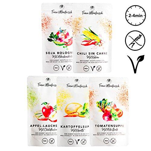Fertiggerichte und Suppen - 10x schnelles Essen - Teilweise Vegan, Glutenfrei, ohne Geschmacksverst