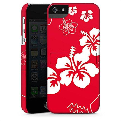 Apple iPhone 5 Housse Étui Silicone Coque Protection Été Fleurs Fleurs CasStandup blanc