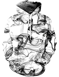 Männer Langarm 3D Digitaldruck Mode Rauch Liebhaber Design Baseball Pullover Hoodies Sweatshirts