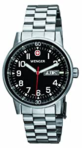 Wenger Men's Commando Series Watch 70163.XL With Black Dial And Steel Bracelet