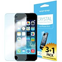 SPIGEN SGP iPhone 5 Screen Protector Clear [Crystal] [4-PACK] **Value Pack** Premium Front Screen Protector + Back Protector - Optical Value Pack