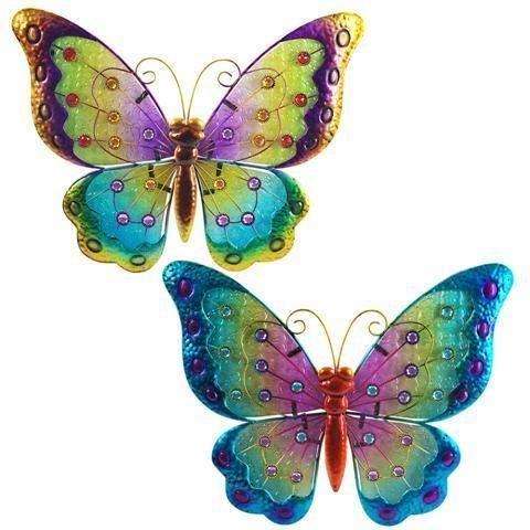 Applique Murale, Ornement, x2 Papillon 34 cm