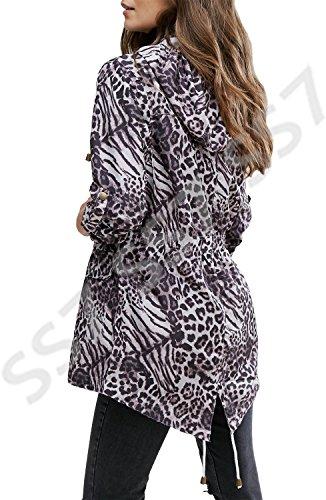 SS7 Damen Leopard Regenmantel, Größen eu 36-44 Safari