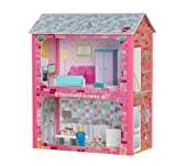 Plum Camden Court Wooden Dolls House with Wooden Accessories