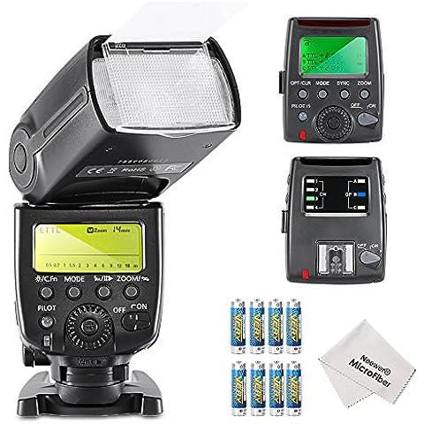 Neewer-MK600 E-TLL/HSS E 8000s II TTL-Flash Master/Slave per fotocamere DSLR Canon, include: 1-Flash MK600 paragrafo 1, MK GT600-Flash Trigger, Wireless, paragrafo 1, punto 8, LR6, panno di pulizia in microfibra