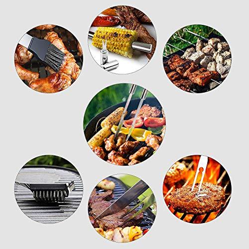 51DXVgEFyAL - FIXKIT Grillbesteck-Set 26-teilig in Edelstahl mit Weinöffner kompletter Grillkoffer BBQ Zubehör im Aluminium Aufbewahrungskoffer TRAGBARES & IDEALES Geschenk Camping Grillen