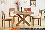 #9: Rajasthan Sheesham Furniture Sheesham Wood Dining Set 4 Seater Solid Wood | Balcony Table Chair Set | Coffee Table | Natural Honey Finish …
