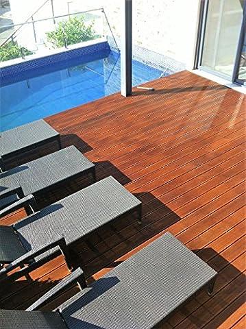 KUL Bamboo Bambou Lame de terrasse–reconstitué avec Nut & Clip–Système