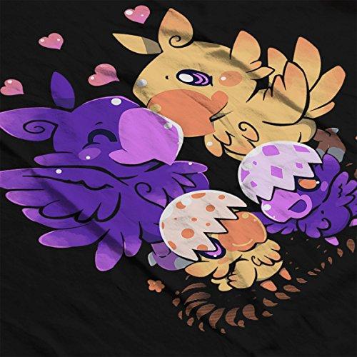 Loving Chocobo Family Final Fantasy Men's Vest Black