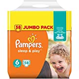 Pampers Sleep & Play Taille 6JUMBO PACK, 58pièces