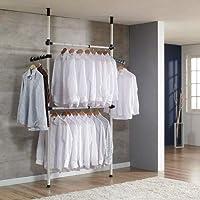 Garde-Robe Téléscopique Systèmes Penderie Porte-Vêtements, Penderie Télescopique Porte-Vêtements, Support Télescopique…