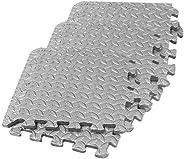 VOSAREA 6pcs Foam Floor Mats Interlocking Tiles EVA Foam Padding Thick Puzzle Exercise Mat Workout Flooring Fo