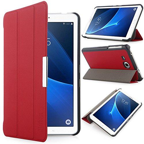 iHarbort® Samsung Galaxy Tab A 7.0 Hülle - Ultra Slim Leder Tasche Hülle Etui Schutzhülle Für Samsung Galaxy Tab A 7.0 Zoll T280 T285 Case Cover Holder,(Galaxy Tab A 7.0, Rot)