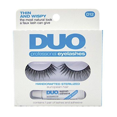 DUO Eyelash Adhesive - Think and Wispy D12 Eyelashes - Thin and Wispy