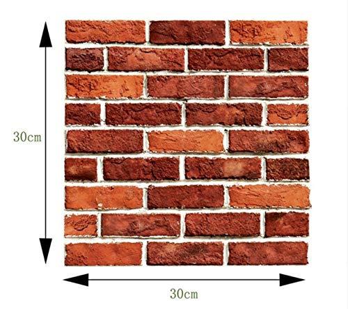 dhensive 3D Brick Wandaufkleber Keramikfliesen Aufkleber Wohnkultur Wasserdichte Wandverkleidung Tapete Für Tv Hintergrund ()