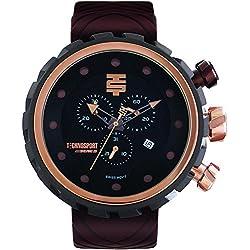 TechnoSport Herren Chrono Uhr - BOLD schwarz / braun