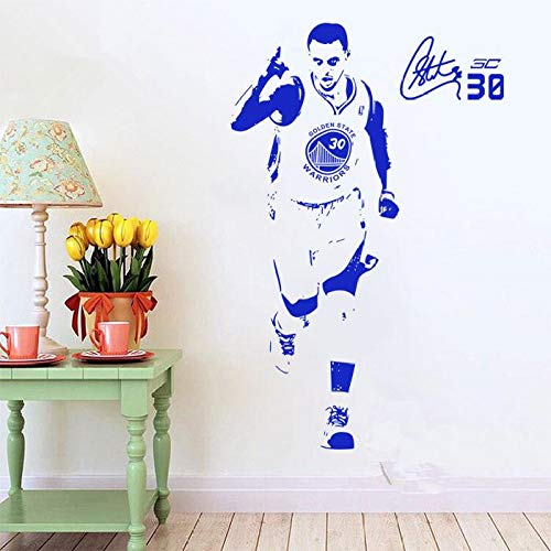 jiushizq Fai da Te Wallpaper Basket Superstar Wall Stickers Decorazione per la casa Murale Grigio 82x32 cm