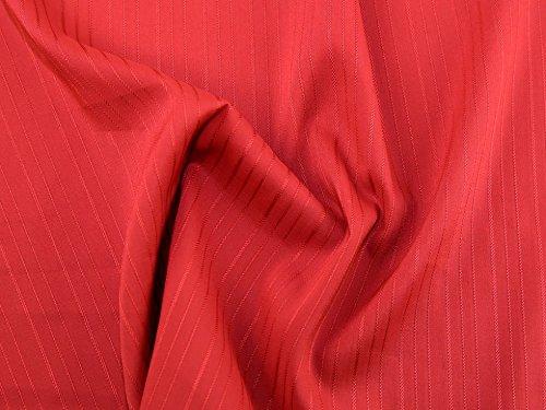 Selbst Streifen Stretch Shirting Kleid Stoff, Meterware, Rot Dunkelgrau Shirting Kleid