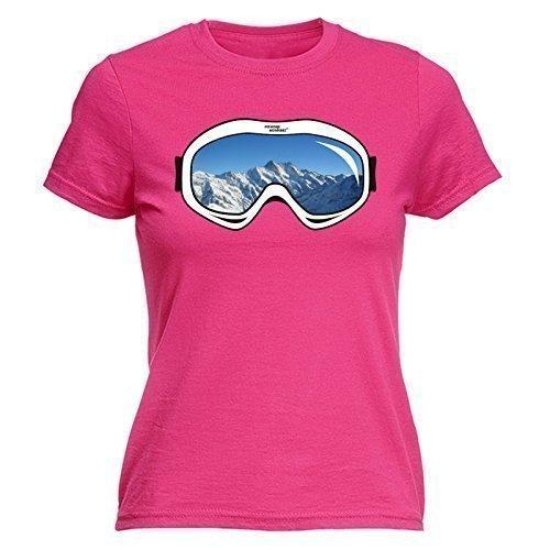 fonfella-womens-ski-goggles-design-s-hot-pink-fitted-t-shirt