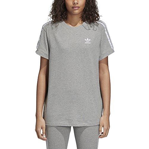 outlet store 0d606 f5e4e adidas 3 Stripes tee Camiseta, Mujer, Gris (Medium Heather), 34