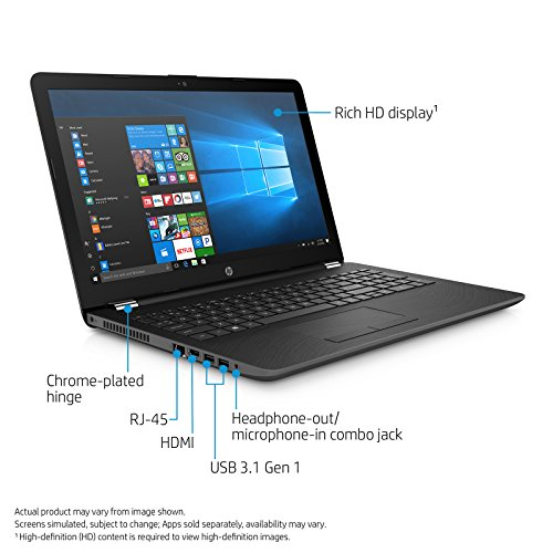 HP 15q-Bu014TU 15.6-inch HD Laptop (7th Gen Core i5-7200U/4GB DDR4/1TB HDD/Bluetooth/Fast Charge Battery/Windows 10 Home/MS Office Home and Student 2016), Sparkling Black