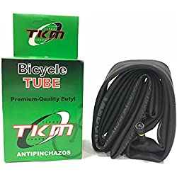 "TKM - Cámara de aire Antipinchazos para Bicicleta MTB Super Reforzada 27,5"" X1.95/2.125 A/V Válvula Gruesa"