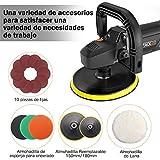 Pulidora de Coche, Tacklife 1500W Máquina de Pulir, Control de Velocidad Electrónico 600-3000RPM,...