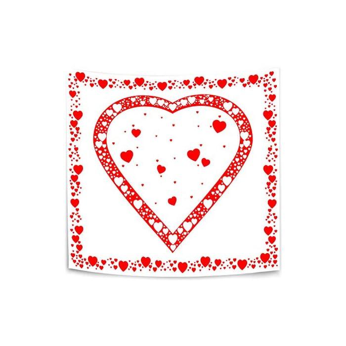 Belle Vous Altdeutsche Hochzeitstradition Laken 1.8x2m mit Herzmotiv zum Ausschneiden für Braut und Bräutigam…