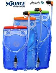 Trinkblase und Getränkebeutel Trinksystem für Trinkrucksack mit praktischem Schlauch mit Auslaufschutz-Trinkventril im Mundstück Sondermodell von Source in verschieden Größen-Reservoir 1,5 2 und 3 Liter für Radfahren Wandern Laufen Trekking Outdoor