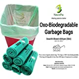 NaturePac Garbage Bags Biodegradable For Kitchen,Office,Large Size (60cmx81cm)/(24 Inchx32 Inch),Green (90 Bag).