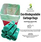 #9: NaturePac Garbage Bags Biodegradable For Kitchen,Office,Large Size (60cmx81cm),Green (90 Bag).