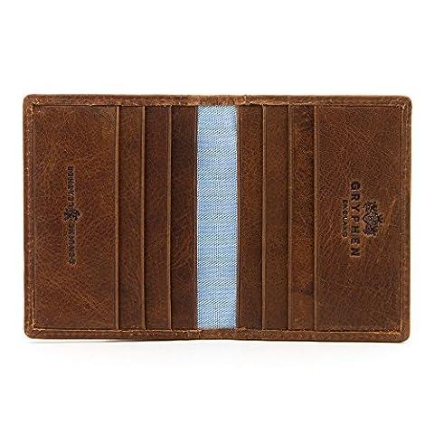 2 plis-Hoxton-Porte-carte de crédit en cuir Par Gryphen