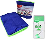 Sobby Microfibre Floor Cleaning Cloth with Hole for Wipers (50 x 70 cm; Assorted) -2 Pieces