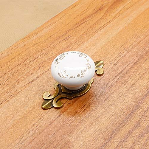 QIUA Maniglia per cassetto Maniglia da Cucina in Ceramica per Armadio da  Cucina con Maniglia a Foro Singolo,Bronze,C
