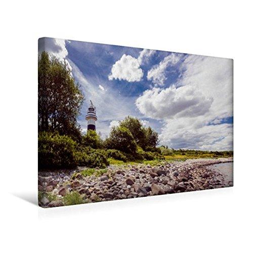 Calvendo Premium Textil-Leinwand 45 cm x 30 cm Quer, Leuchtturm Bülk   Wandbild, Bild auf Keilrahmen, Fertigbild auf Echter Leinwand, Leinwanddruck Natur Natur