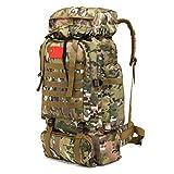 70L Molle Camo Zaino Tattico Esercito Militare Impermeabile da Trekking Zaino di Campeggio di Viaggio Zaino Sport all'Aria Aperta Sacchetto di Arrampicata