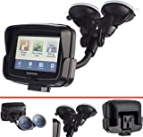 Ultimateaddons® Dual Suction Vehicle Car Windscreen Mount with Dedicated Holder for TomTom Rider v5 4.3
