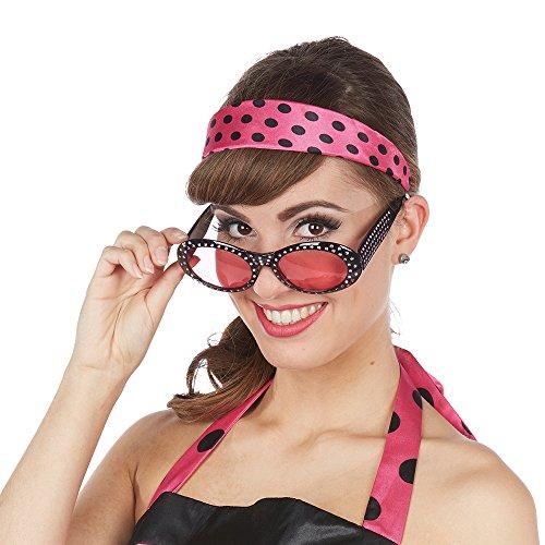 NEU Haarreif 50er Jahre pink, gepunktet (50's Und 60's Rock And Roll Kostüme)