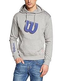 Wilson WRE220007LG - Sudadera unisex, color gris, talla L