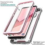 i-Blason 360 Grad Case Transparent Schutzhülle Cover mit eingebautem Displayschutz für Samsung Galaxy S8 Plus, Rosa