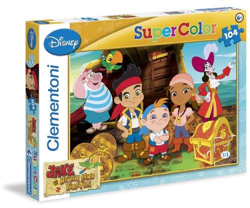 Clementoni 27845.9 - Puzzle Jake and The Neverland Pirates, 104 (Piraten Jake Bilder Neverland Die Und)