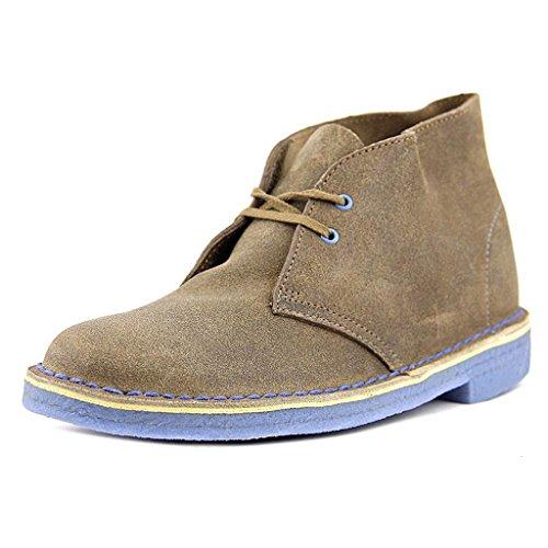 Clarks Originals Clarks, Damen Desert Boots, beige - Taupe Distressed/Blue Crepe UK6/EU39 (Clark Boot Wildleder)