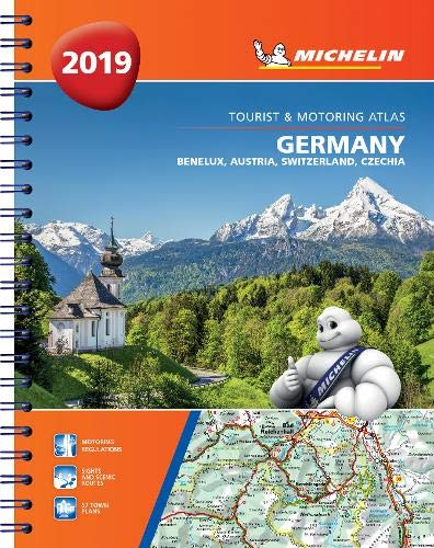 Germany, Benelux, Austria, Switzerland, Czech Republic 2019 - Tourist and Motoring Atlas (A4-Spirale): Tourist & Motoring Atlas A4 spiral (Michelin Road Atlases) (Michelin Maps Deutschland)