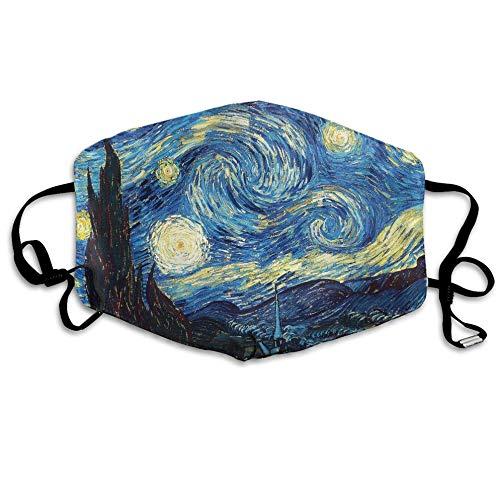 Louis Berry Staubmaske, wiederverwendbar, für Männer und Frauen, Sternennacht, Ölgemälde, Kunstdruck, Mundmaske, Unisex (ölgemälde Sternennacht)