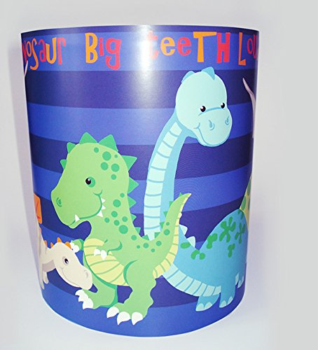 Dinosaure lumière/lampe - Motif à rayures Bleu
